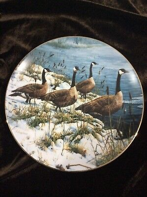 Hamilton Plate Winter Wildlife 'Among The Cattails' by Seerey-Lester #2723A 1988