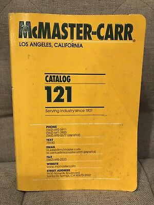 McMaster-Carr Catalog 121 Serving Industry Since 1901