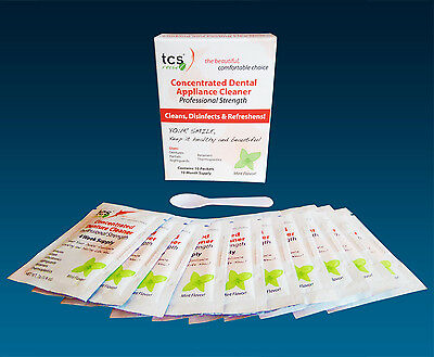 TCS Cleaner Sachets ~ Flexible Denture & Unbreakable Dentures 10 Months Cleaning