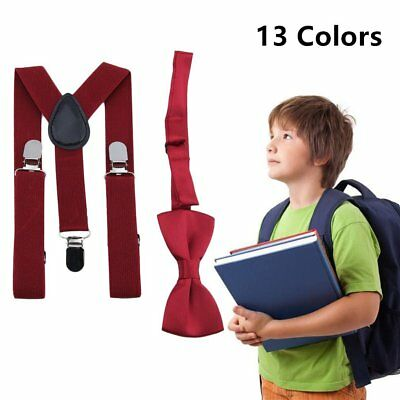 Suspender and Bow Tie Set for Baby Toddler Kids Boys Girls Children - USA  PS