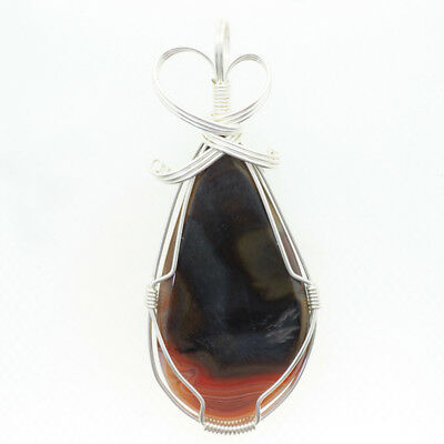 925 Silver Plated  Gemstone Pendant Necklace C1709 0350