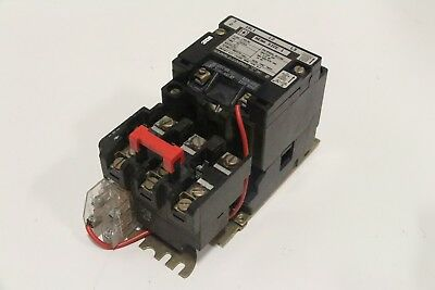 Square D 8536-SCG3 Size 1 Motor Starter 120V Coil Sz1 10-HP Form S Series A
