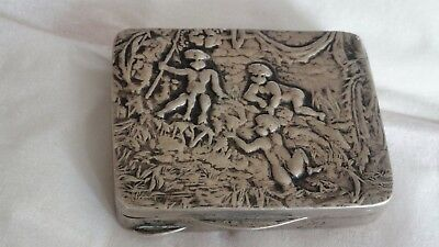 Small Antique Silver Italian Peel Box