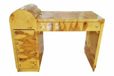 in 8 weeks Special Art Deco forms burl olive wood desk