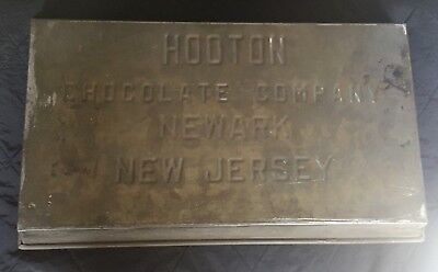 "Antique Chocolate Mold HOOTON CHOCOLATE CO. Newark NJ 19"" L Industrial Tray"