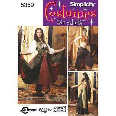 Simplicity Sewing Pattern 5359 Misses Costumes