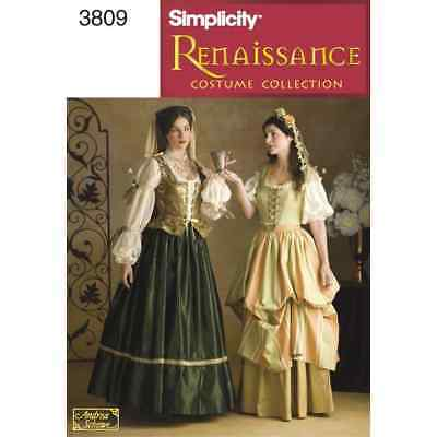 Simplicity Sewing Pattern 3809 Misses Costumes