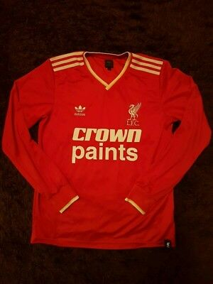 LIVERPOOL FC ADIDAS CROWN PAINTS  SHIRT size M LONG SLEEVED 7