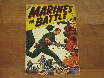 1954 Marines In Battle #2 Golden Age Atlas Comics Hard To Find These Comics!!
