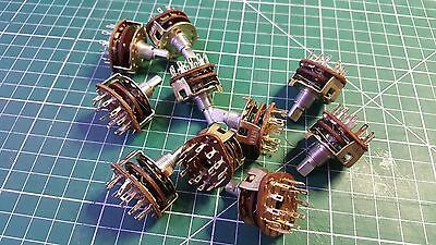 10pcs Rotary Switch 3 Pole 4 Position Rotary Switch , 6mm x 8mm , Alpha Brand