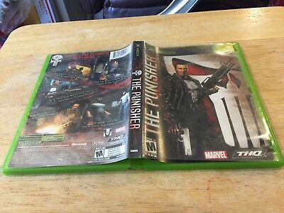 The Punisher Xbox Original Case Cover Art Only *NO GAME*