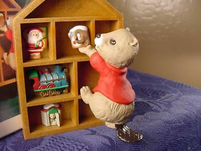 HALLMARK CHRISTMAS ORNAMENT COLLECTING MEMORIES series faves in shadow box CUTE