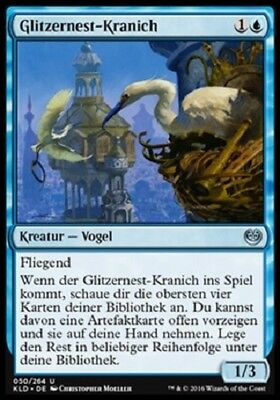 4 Glint-Nest Crane / Glitzernest-Kranich (mint, Kaladesh, deutsch)