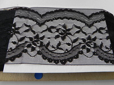 Card of New Wide Lace - Black