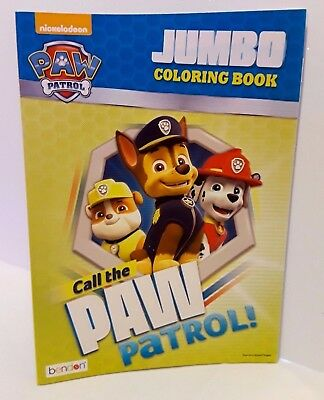 Nickelodeon Paw Patrol Jumbo Coloring Book Call The Paw Patrol New Age 3