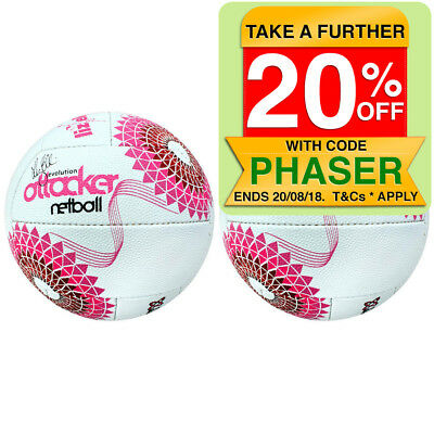 2PK Summit Global Liz Ellis Evolution Attacker Netball Size 5 Pink/White Ball