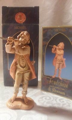 Fontanini, Michael with Flute Figurine #52565, In box with Story Card