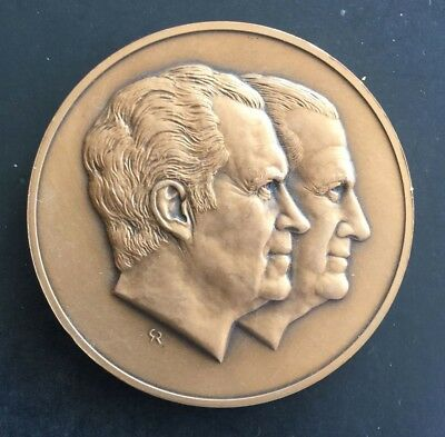 President Richard Nixon VP Agnew 1973 Inauguration Medal Franklin Mint 3 Inch