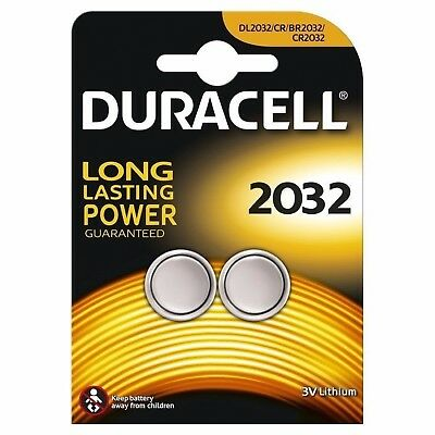 Duracell CR2032 3V 2032 Lithium Twin Pack Button Coin Cell Battery