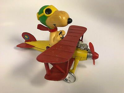1965 Aviva Toys Peanuts by Charles Schultz Snoopy The Red Baron Biplane Plane