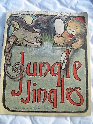 1901 VINTAGE LOUIS DAUDELIN CO. BLOOD WINE MEDICINE Jungle Jingles booklet