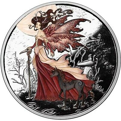 Amy Brown Collection - Red Queen 1 oz .999 Silver Colorized Proof Round USA Coin