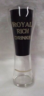 Vintage Royal Rich Drinks Soda Fountain Etched Glass With Syrup Line