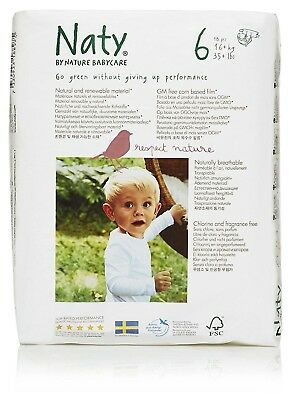 Nature Babycare Eco-Diapers, Size-6, 18 Count (Pack of 4)