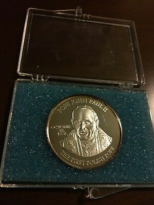 Pope John Paul II Silver Coin Log Live Our Pope