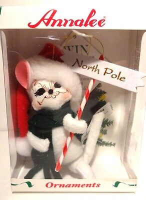 "*NEW* Annalee (2004) NORTH POLE MOUSE ORNAMENT 4"" New in Box"
