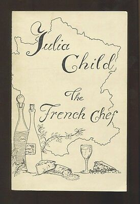 1973 - JULIA CHILD: THE FRENCH CHEF - VERY SCARCE PROGRAM for LIVE DEMONSTRATION
