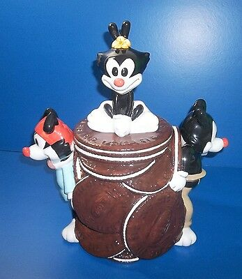 Anamaniacs Cookie Jar From Warner Brothers! Yakko, Wakko And Dot! Rare 1994