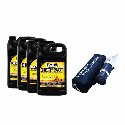 Evans Heavy Duty Waterless Coolant (4 Gallon) with Refractometer