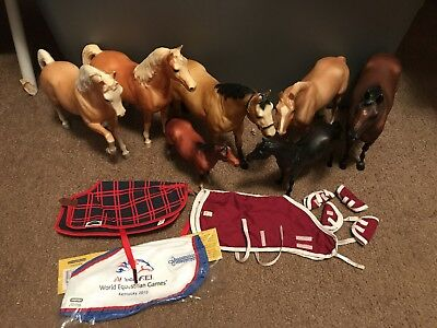 Breyer Horse Lot with blankets toy horses