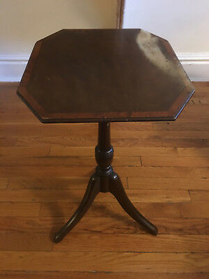 Antique Octagon Decorative Display Stand NEEDS REPAIRS
