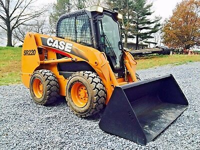2011 Case Sr220 Skid Steer  Loader Full Cab Air Heat Diesel Bob Cat See Video