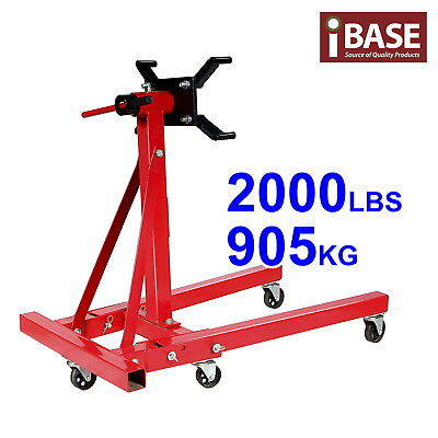 Engine Stand Truck Motor Hoist Cradle Folding Workshop 905Kg/2000Lb A Frame Red