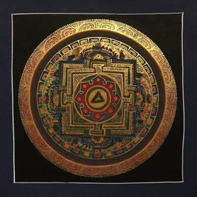 Original Handpainted Tibetan Chinese Mandala Thangka Painting Meditation Art 17
