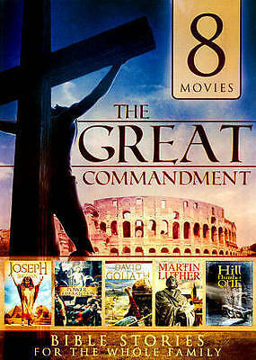 Used Dvd  - 8 Bible Movies - Esther - Hill Number One - Martin Luther - Goliath