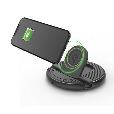 Wireless Car Charging Dock QI Charger Dash Mount for iphone X/8/8Plus Galaxy S8