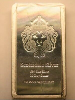 Scottsdale Silver 10oz Stacker Bar .999