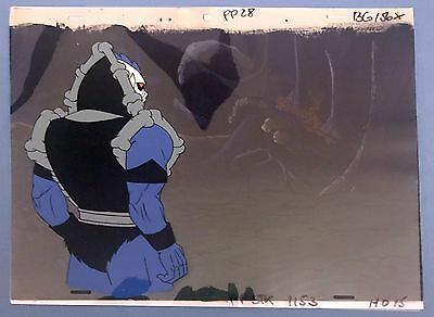 She-Ra Princess of Power Original Animation HORDAK Cel & Hand Painted Bkgd