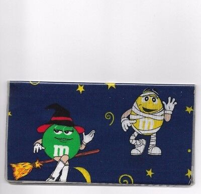 M&m Candy Checkbook Cover Registered Fabric Halloween