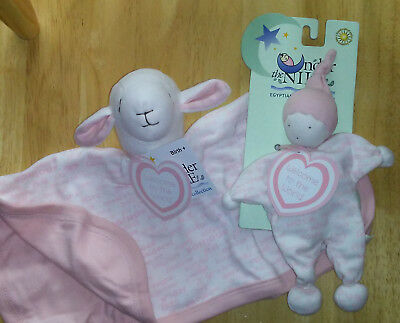 NEW~*SALE*~Organic Cotton~Under The Nile Lot~Sheep Lovey~Baby Buddy~Pink~0M+