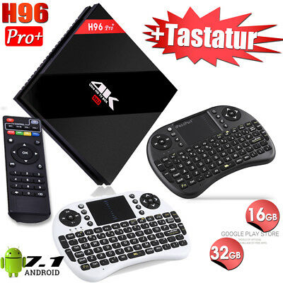H96 Pro+/Plus 2GB 3GB RAM 16GB 32GB TV BOX + Mini Tastatur Drahtlos Android 7.1