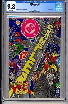 DC SAMPLER #1  CGC 9.8 WP  DC Comics 1983 Batman Superman Flash Wonder Woman