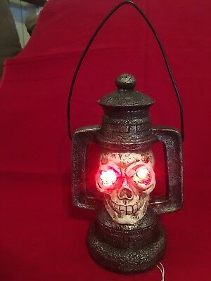 Spooky Skull Haunted House Lighted Lantern Halloween hanging