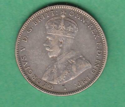 1931 Australia One Shilling Silver, better date, lots of detail! inv#7325