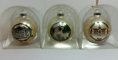 Lot of 3 Vintage  Denton Texas State Christmas Ornaments i