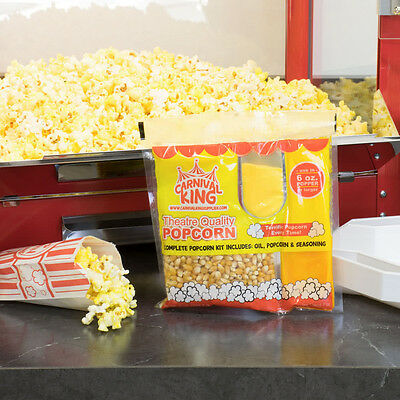 Carnival King All-In-One Popcorn Kit ~ For Use In Poppers 6 oz or Larger